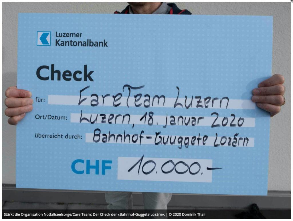 Check von 10'000 Franken
